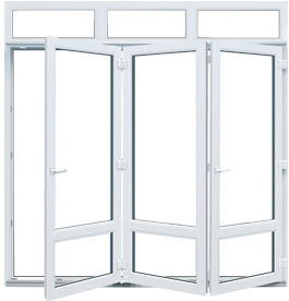 ventana pegable aluplast